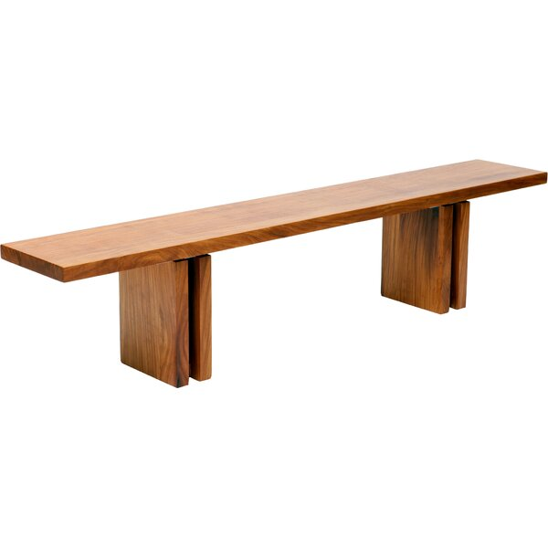 Occidental Outdoor Wood Bench by ARTLESS