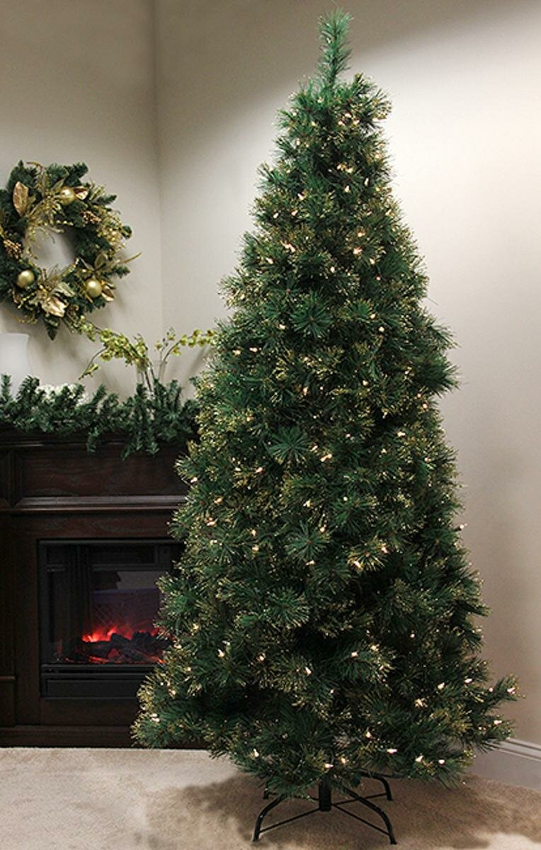 Northlight 7.5' Taittinger Long Needle Pine Artificial Christmas Tree with Clear Light | Wayfair