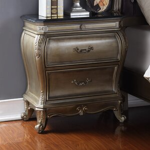 Moreno 2 Drawer Nightstand by Rosdorf Park