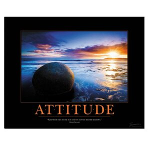 'Attitude Boulder' Motivational Photographic Print by East Urban Home