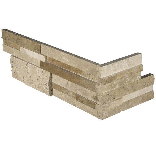 Casa 6 x 18 Travertine Splitface Tile in Beige by MSI