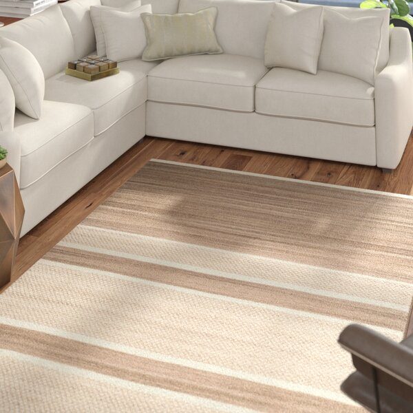 Duhart Brown/Ivory Striped Rug by Mercury Row