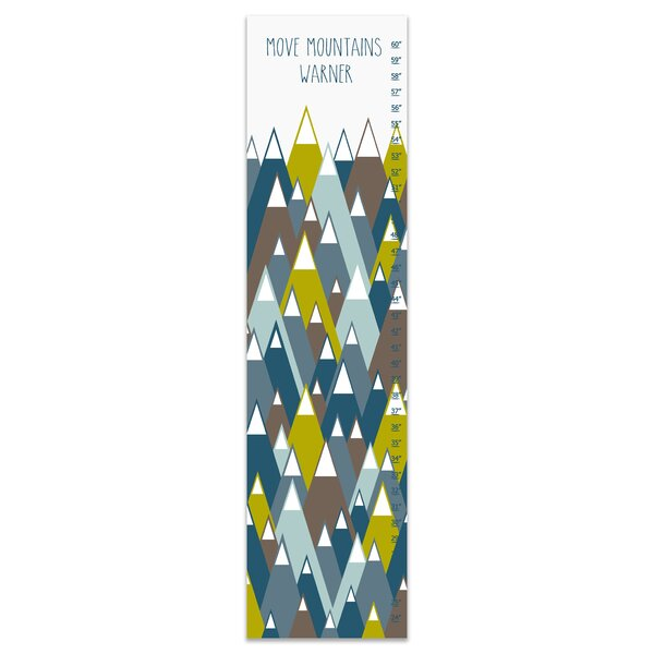 Credle Move Mountains Canvas Personalized Growth Chart by Harriet Bee