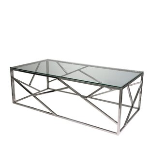 Stainless Steel and Glass Coffee Table by Sagebrook Home
