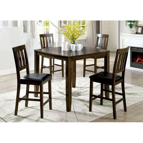 Healdton 5 Piece Counter Height Extendable Dining Set By Fleur De Lis Living #2
