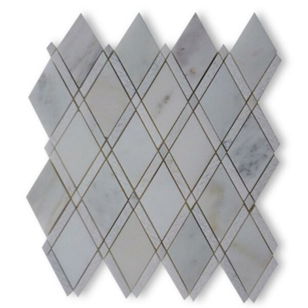 Grand Random Sized Marble Mosaic Tile in Textured Asian Statuary by Splashback Tile