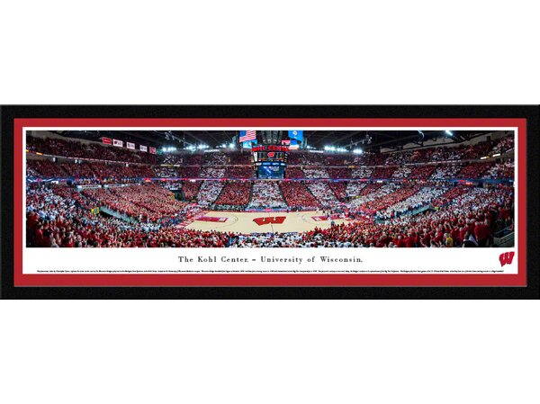 NCAA Wisconsin, University of - Basketball by Christopher Gjevre Framed Photographic Print by Blakeway Worldwide Panoramas, Inc