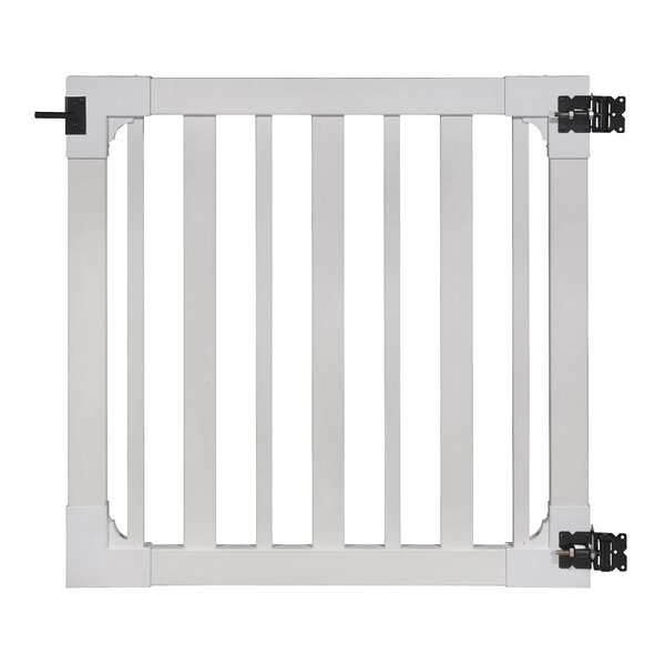 4 ft. H x 4 ft. W Sturbridge Vinyl Yard and Pool Gate with Hardware by Wam Bam No-Dig Fence
