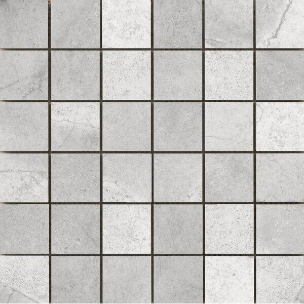 St Moritz II 2 x 2 Porcelain Mosaic Tile in Silver by Emser Tile