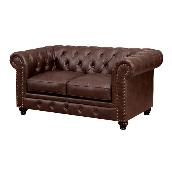 Branchville Chesterfield Loveseat by Three Posts