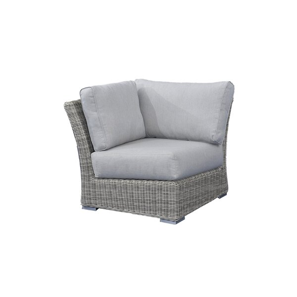 Searle Corner Sectional Olefin Patio Chair with Cushions by Ivy Bronx