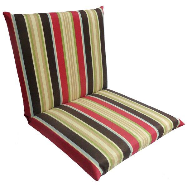 Sebastion Stripe Outdoor Lounge Chair Cushion by Winston Porter