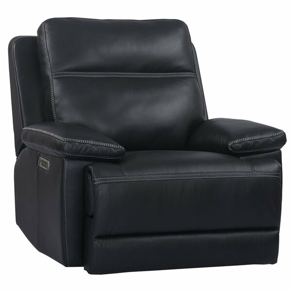 Syn Leather Power Recliner By Latitude Run