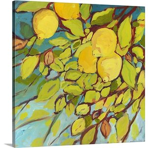 The Lemons Above by Jennifer Lommers Painting Print on Gallery Wrapped Canvas by Great Big Canvas