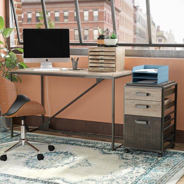 Edgerton Industrial 2 Piece Desk Office Suite by Greyleigh