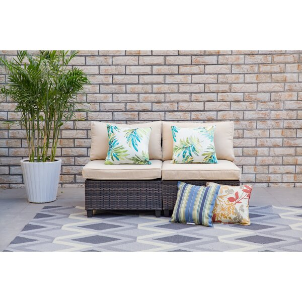 Pettit Patio Chair with Cushion (Set of 2) by Bay Isle Home