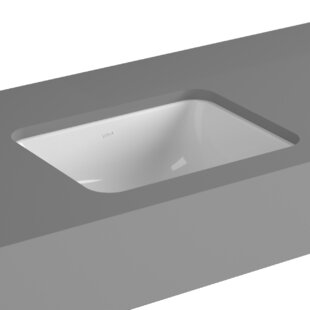 Inexpensive Seville Vitreous China Square Undermount Bathroom Sink with Overflow ByCheviot Products