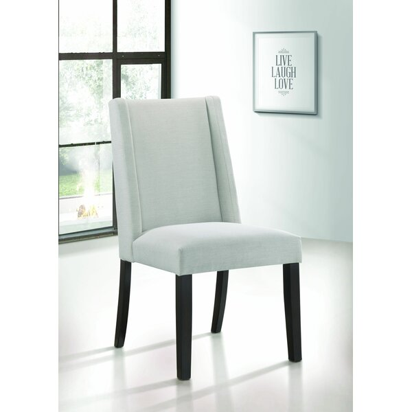 Prolley Upholstered Solid Wood Side Chair (Set of 2) by Latitude Run Latitude Run