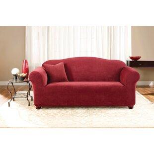 Stretch Pique Box Cushion Sofa Slipcover