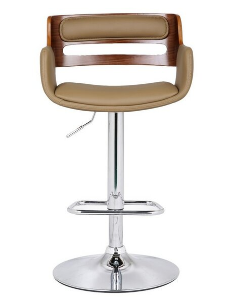 Bentwood Adjustable Height Swivel Bar Stool by Adeco Trading
