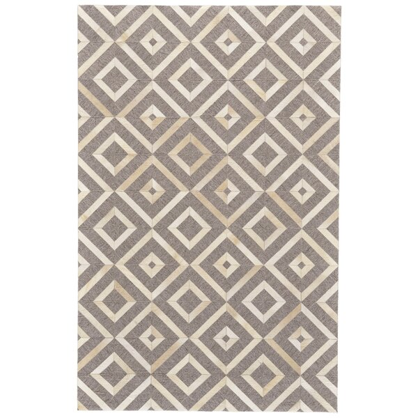 Grossi Hand-Woven Ivory/Burlywood Area Rug by Wrought Studio