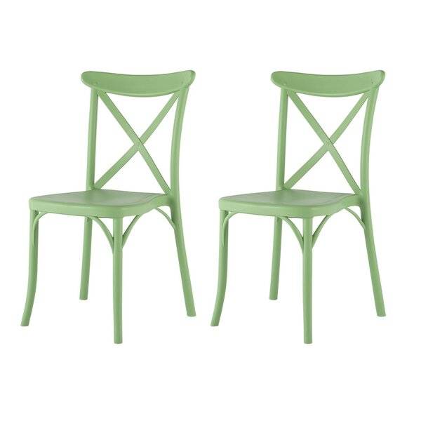 Zawacki Xenia Stacking Patio Dining Chair by Rosecliff Heights
