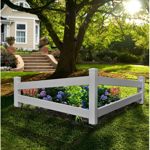 2.5 ft. H x 5 ft. W Split Fence Panel by New England Arbors