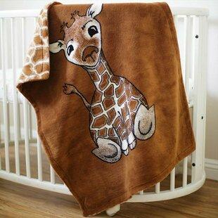 Great choice Burdette Baby Giraffe Spice Baby Blanket ByHarriet Bee