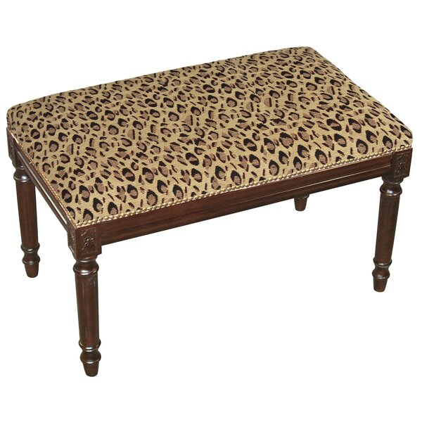Leopard Wood Bench by 123 Creations