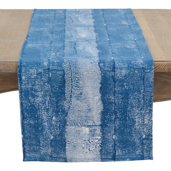 Aranda Stippled Strokes Cotton Table Runner by Highland Dunes