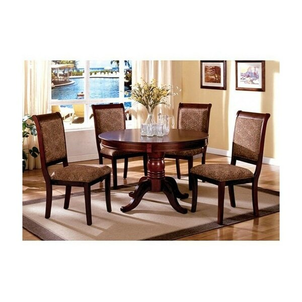 Pitre Round 5 Piece Solid Wood Dining Set