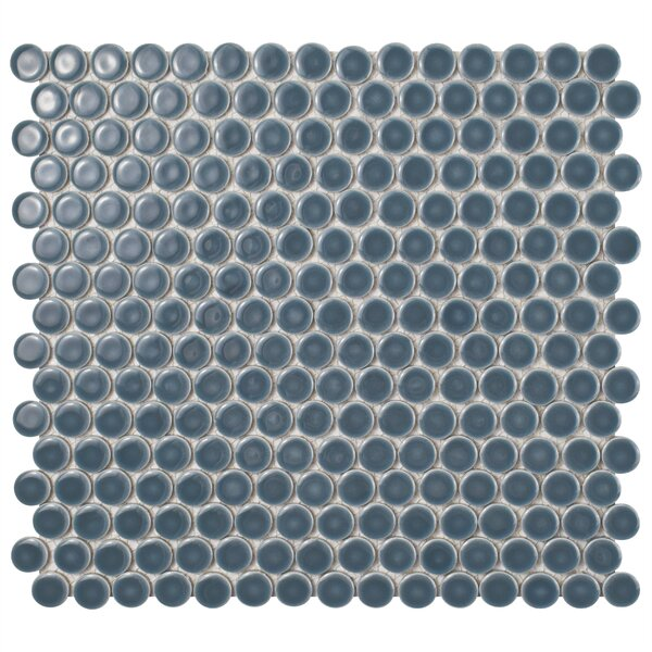 Penny 0.8 x 0.8 Porcelain Mosaic Tile in Storm Gray by EliteTile