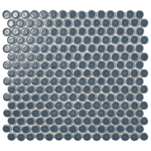 Penny 0.8 x 0.8 Porcelain Mosaic Tile in Storm Gra