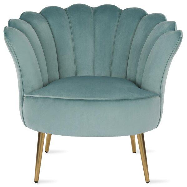Presley Seashell Barrel Chair by Novogratz Novogratz