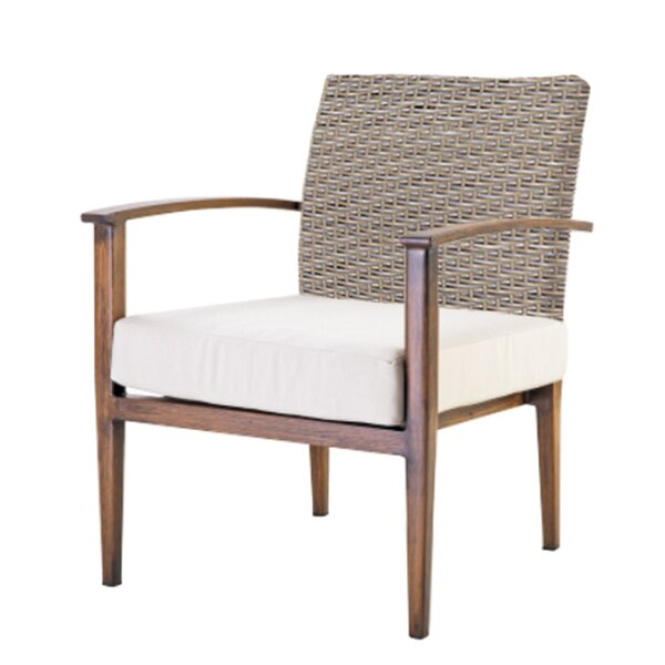 Brinwood Patio Chair with Cushion by Bungalow Rose