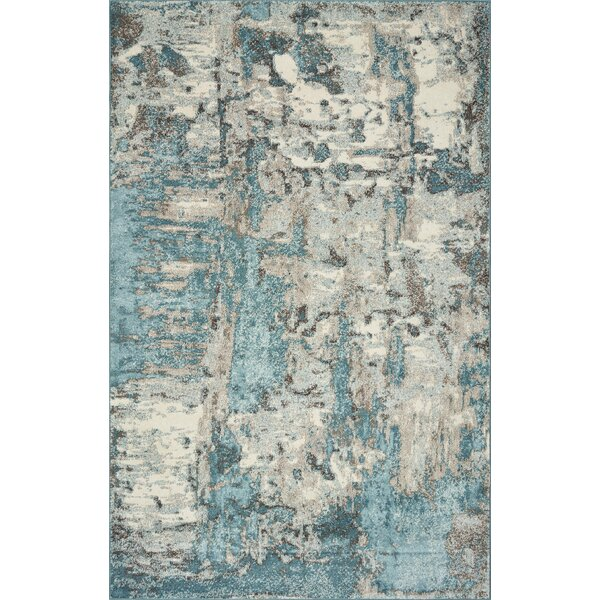 Strouth Teal/Gray Area Rug by Wrought Studio