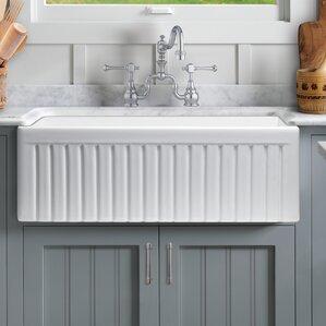 Farmhouse Kitchen Sinks farmhouse & apron single kitchen sinks you'll love | wayfair