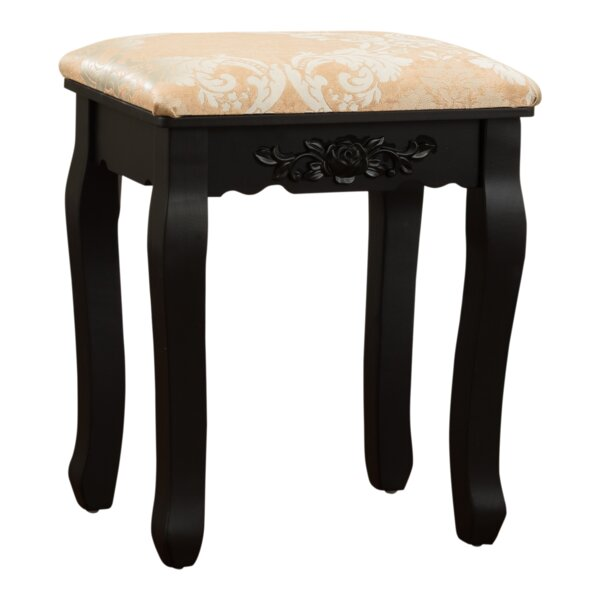 Bethalto Luxury Vanity stool by Charlton Home