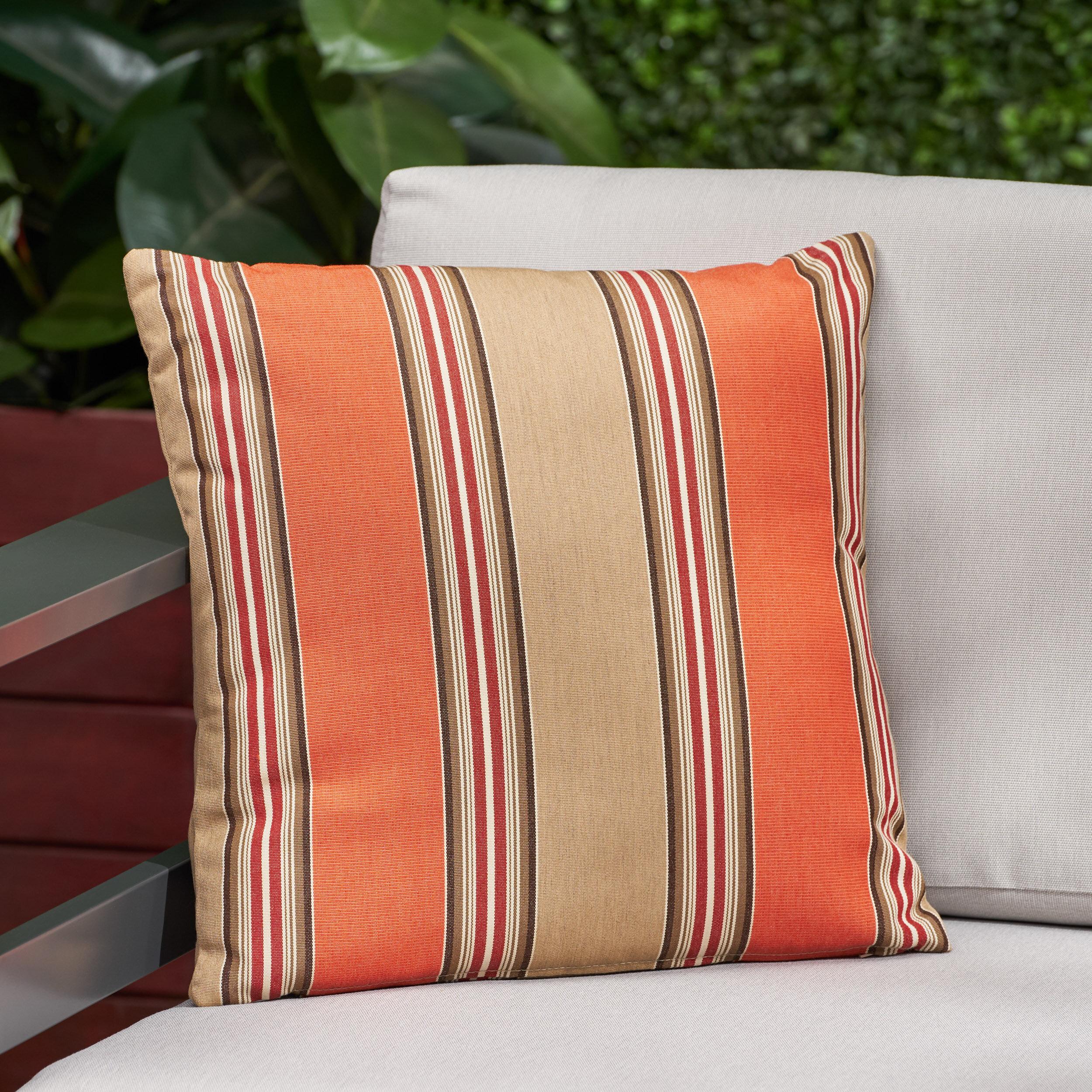 Stripes Sunbrella Outdoor Pillow 18x18 Hlpsocialsquare Com