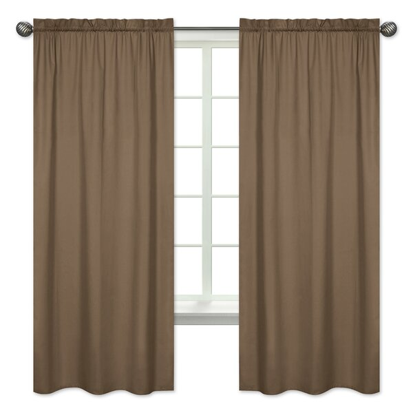 Soho Solid Semi-Opaque Rod Pocket Curtain Panels (Set of 2) by Sweet Jojo Designs