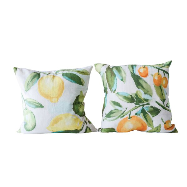 Sauerwein 2 Piece Citrus Fruit Cotton Throw Pillow Set by Red Barrel Studio