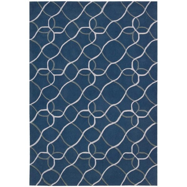 Venable Handmade Denim/White Area Rug by Brayden Studio