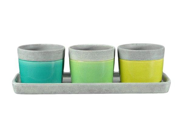 Linkous 3-Piece Ceramic Pot Planter Set by Wrought Studio