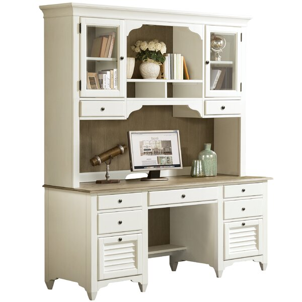 Kamden Credenza Desk with Hutch by Darby Home Co