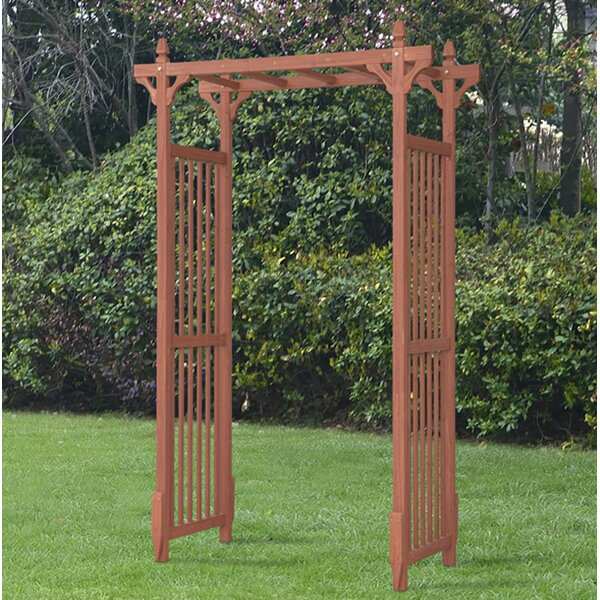 Selina Wood Arbor by August Grove