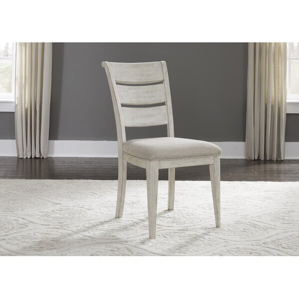 Konen Ladder Back Upholstered Dining Chair (Set of 2) by Ophelia & Co.