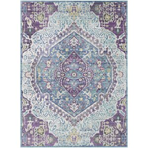 Fields Purple / Blue Area Rug
