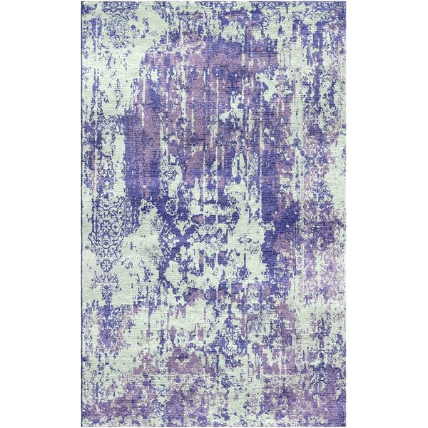 Aliza Handloom Purple/Sage Area Rug by Bungalow Rose