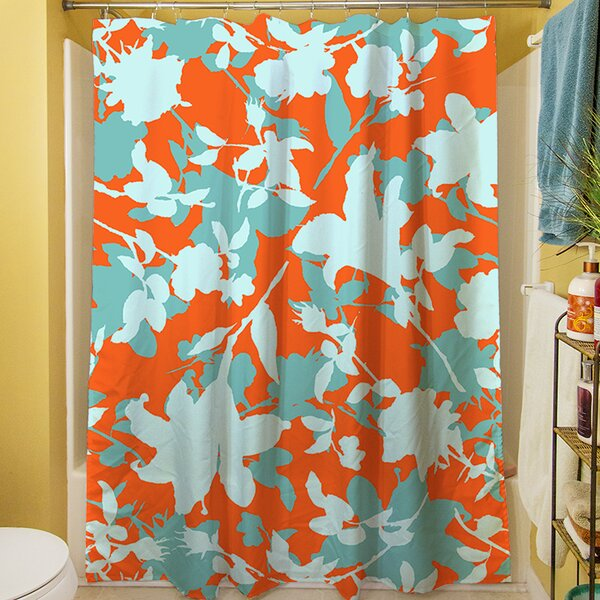 Chloe Floral V Shower Curtain by Manual Woodworkers & Weavers