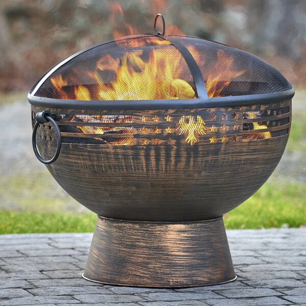 Steel Wood Burning Fire Pit by Good Directions